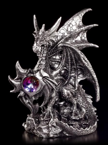 Drachen Figur - Nitidius bewacht Kristall
