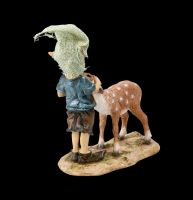 Pixie Goblin Figurine with Fawn - Bambi and Me