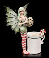 Cup Fairy Figurine - Holiday Cookie Thief
