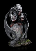 Graveyard Vampire Figurine on Tombstone