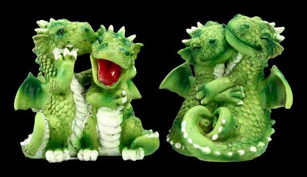 Süßes Drachenfiguren Set - Fröhliche Paare