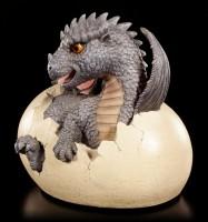 Garten Figur - Drache Feo schlüpft aus Ei