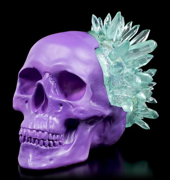 Totenkopf - Crystal Skull - smaragdfarben