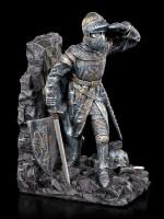 Buchstützen Set - Ritter mit Drachenschild