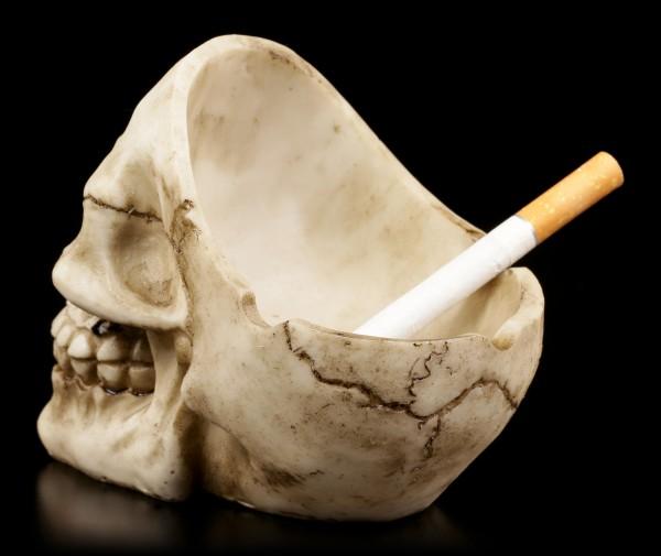 Aschenbecher - Totenkopf ohne Schädeldecke