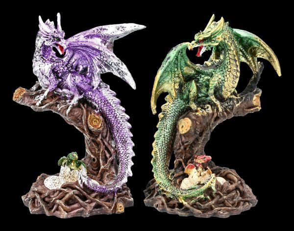 Dragon Figurine Set of 2 - Mother Love