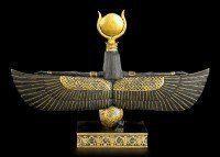 Ägyptische Figur - Isis - Schwarz-Gold