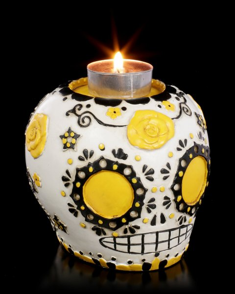 Tealight Holder - Day of the Dead Skull