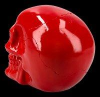 Totenkopf - glänzend rot