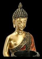 Buddha Dreifach Teelichthalter