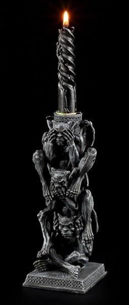 Gargoyle Kerzenhalter - Nichts Böses