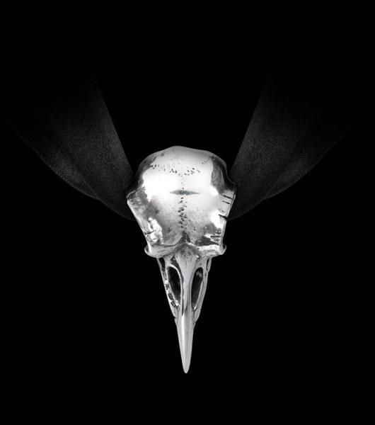 Alchemy Gothic Halskette - Raben Schädel Choker