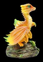 Dragon Figurine - Orange by Stanley Morrison