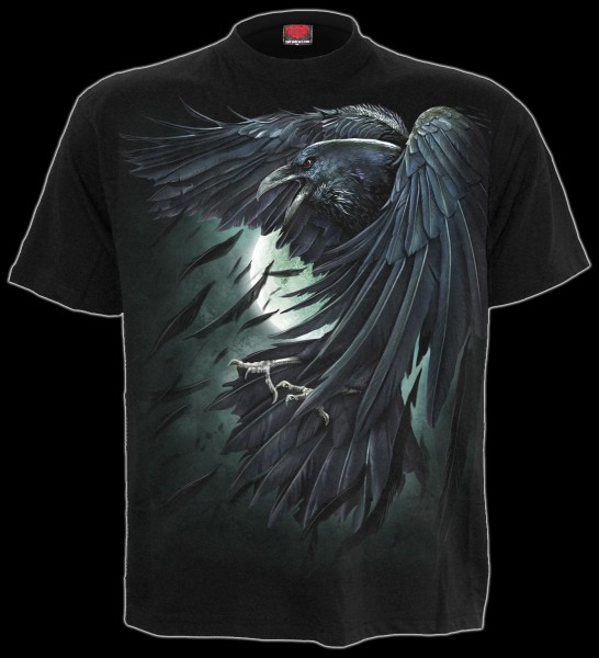 Spiral Gothic T-Shirt - Shadow Raven