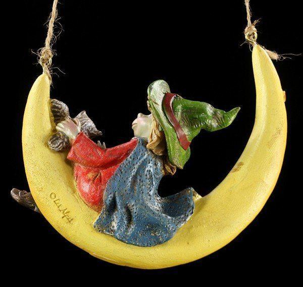 Pixie Figuren - Zauberer auf Mond