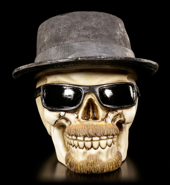 Skull with Hat and Sun Glasses - Badass large