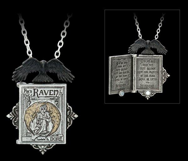 Alchemy Gothic Halskette - Poe's Raven Locket