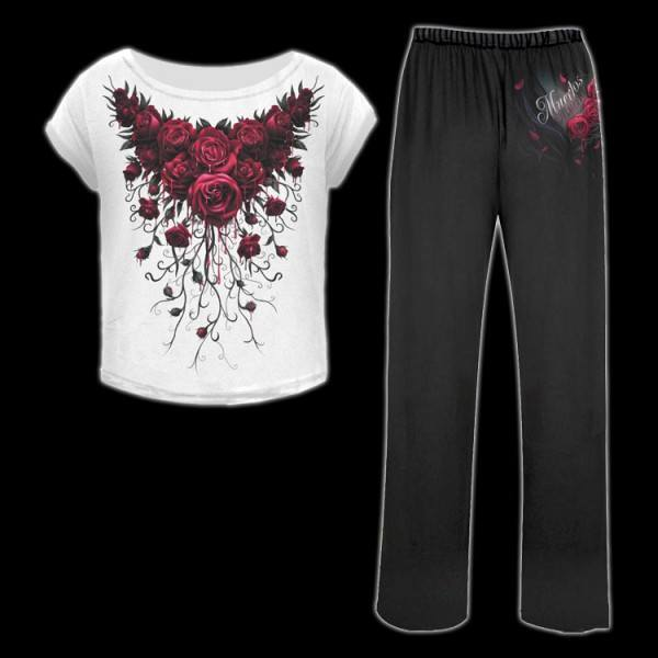 Pyjama Set 4 tlg. Gothic - Blood Rose