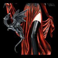 Elfen Figur - Feuerkönigin mit Drache