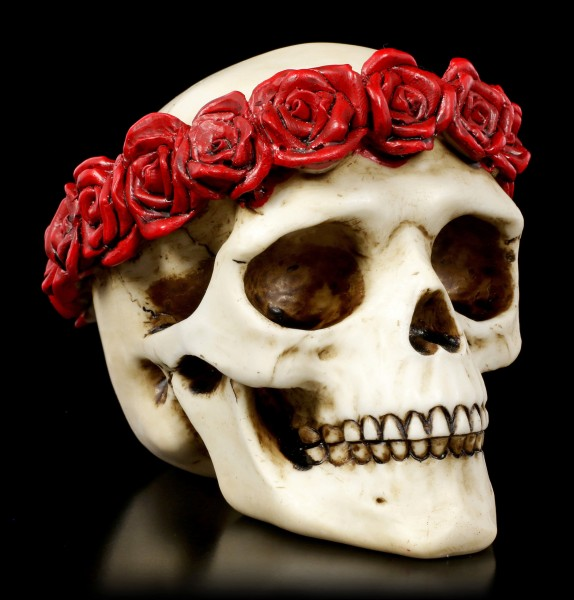 Skull with Crown of Roses