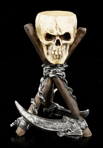 Totenkopf Teelichthalter - Reapers Rest