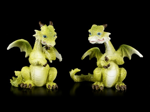 Grüne Drachen Figuren - 4er Set