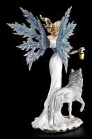 Winter Elfen Figur mit Wolf