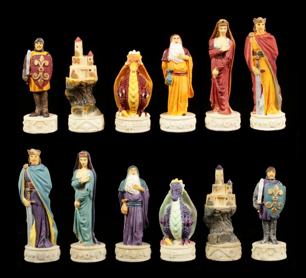Chessmen Set - Medieval Knights