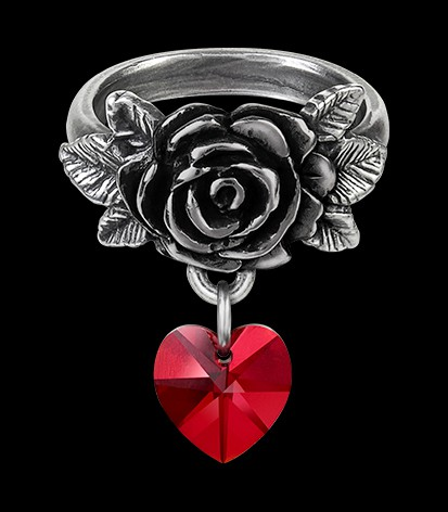 Alchemy Rose Ring with Heart - Cherish