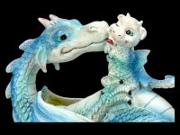 Dragon Figurine - Sweetest Moment - blue