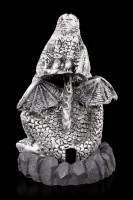 Incense Cone Holder - Silver Dragon