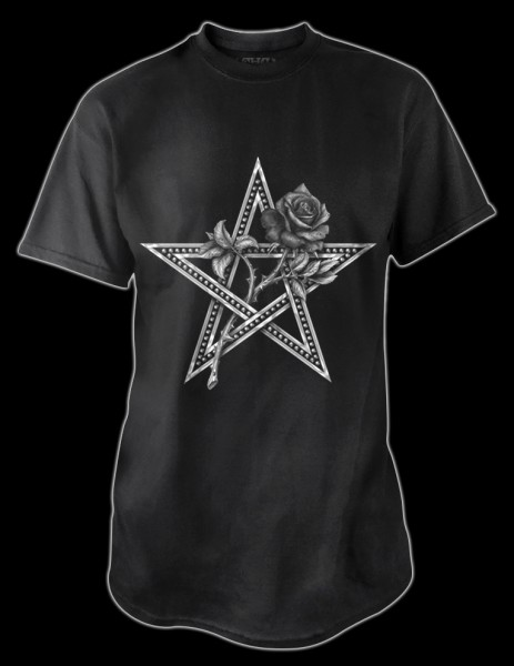 Alchemy T-Shirt Pentagramm Rose - Ruah Vered