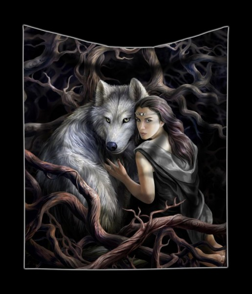 Fluffy Blanket - Soul Bond by Anne Stokes