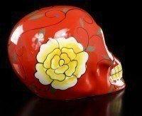 Mexikanischer Totenkopf - Keramik rot