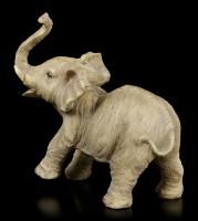 Elefanten Figur - Junges stehend mit erhobenem Rüssel