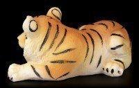 Tigerbaby Figur - Schlafend auf dem Boden