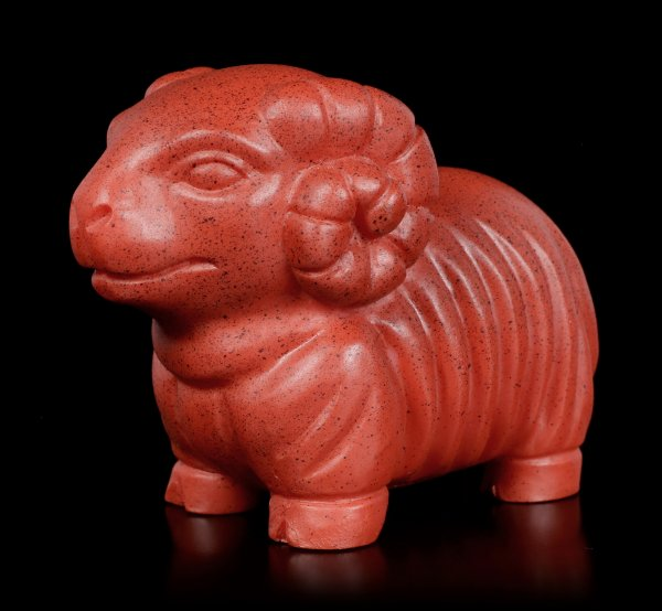 Ancient Egypt Ram Figurine - red