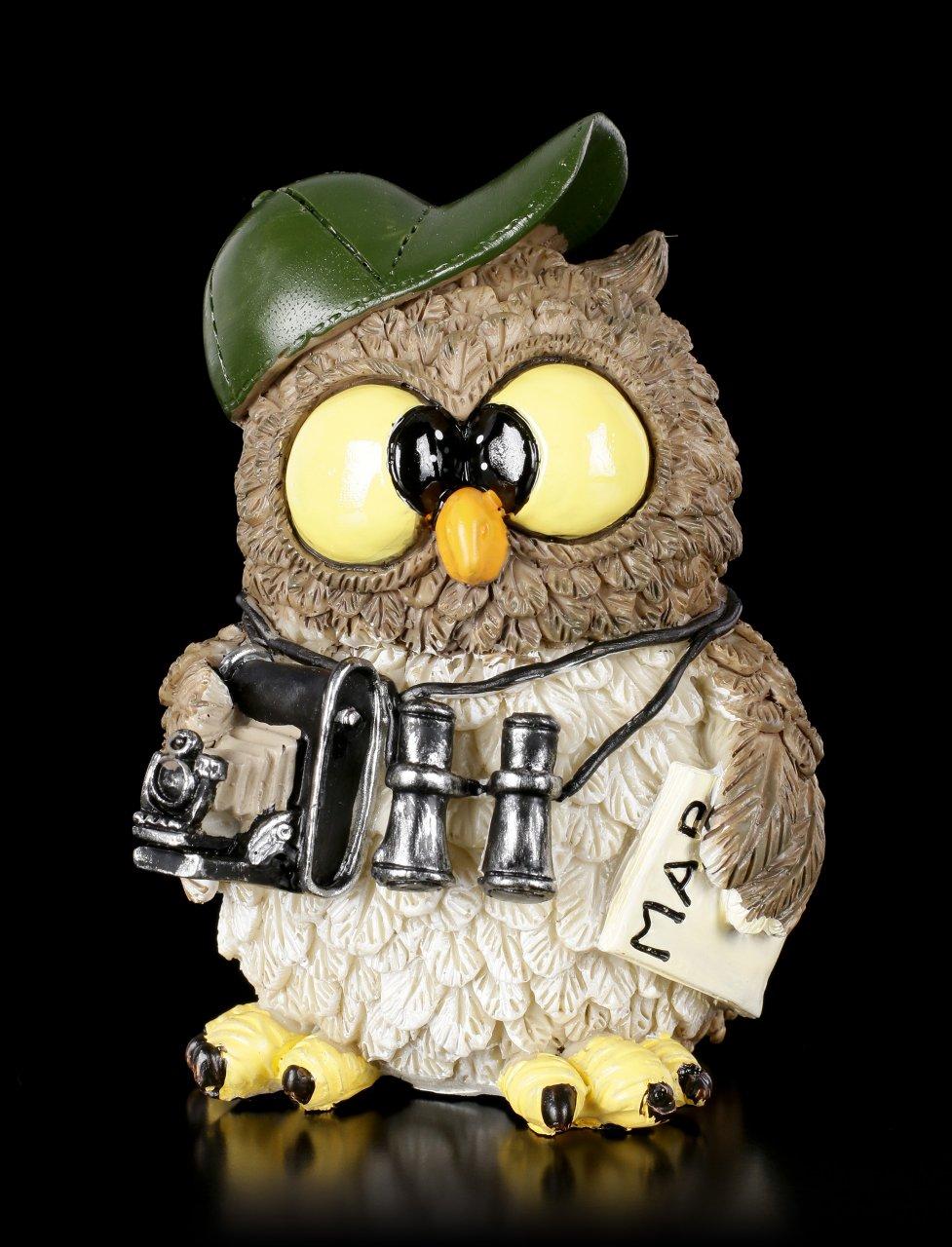 Funny Figurine Owl - Tourist