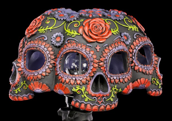 Skull Lamp - Night Blooms