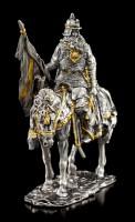 Wikinger Krieger mit Pferd und Axt - Zinn Figur