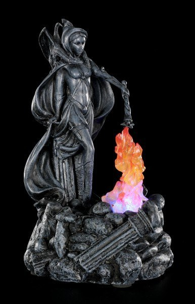 Witch Figurine - Savanna Summon Dragonfire with LED