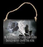 Alchemy Metallschild klein - Never Crave The Rose