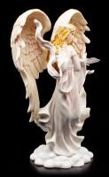 Engel Figur - Angelica mit Tauben
