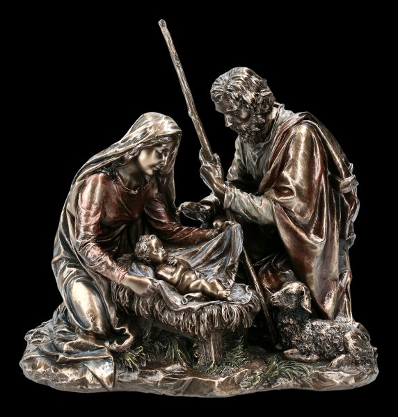 Crib Figurine - Birth of Jesus with Mary and Joseph