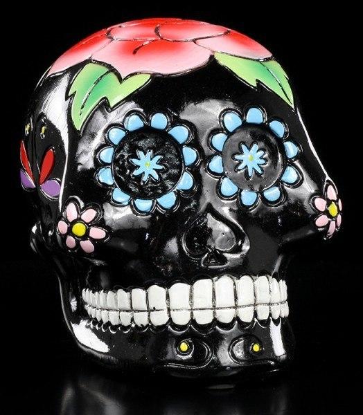 Mexikanische Totenkopf Spardose - Black Skull