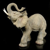 Large Elephant Figurine with raised Trunk