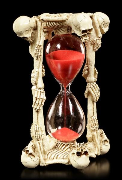 Skelett Sanduhr - Acht Seelen
