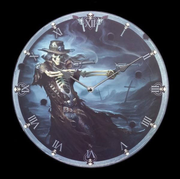 Wanduhr mit Reaper - Gunslinger
