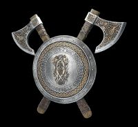 Wall Plaque - Viking Shield with Axes