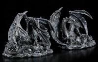 Drachen Figuren mit Brut - 2er Set
